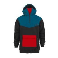 Majesty Anorak softshell black/red/blue'20
